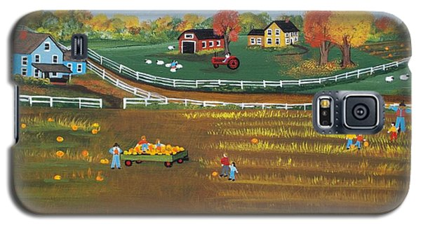 The Pumpkin Patch Galaxy S5 Case by Virginia Coyle