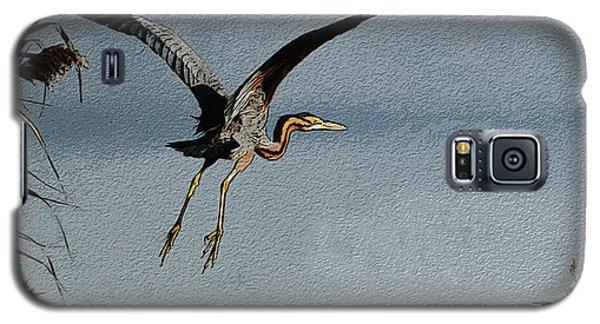 The Purple Heron Galaxy S5 Case by Manjot Singh Sachdeva