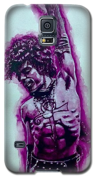 Galaxy S5 Case featuring the painting The Purple Prince   by Darryl Matthews