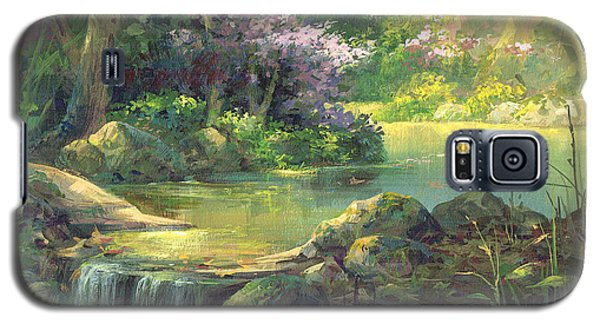 Galaxy S5 Case featuring the painting The Quiet Creek by Michael Humphries