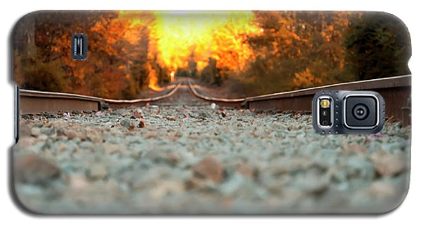 Galaxy S5 Case featuring the digital art The Railroad Tracks From A New Perspective by Chris Flees
