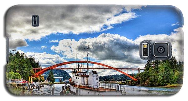 The Rainbow Bridge - Laconner Washington Galaxy S5 Case by David Patterson