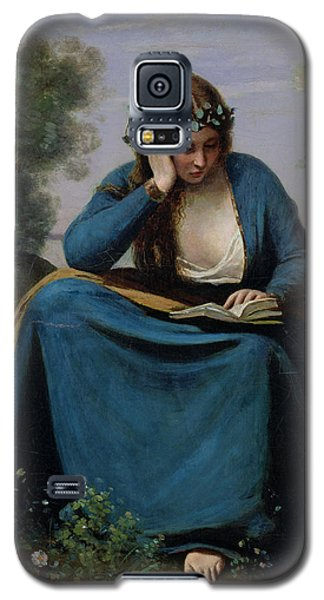 The Reader Crowned With Flowers Galaxy S5 Case by Jean Baptiste Camille Corot