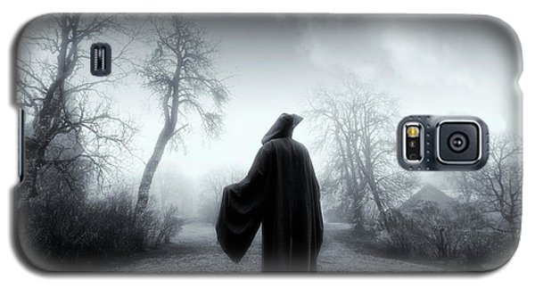 Galaxy S5 Case featuring the photograph The Reaper Moving Through Mist And Fog by Christian Lagereek