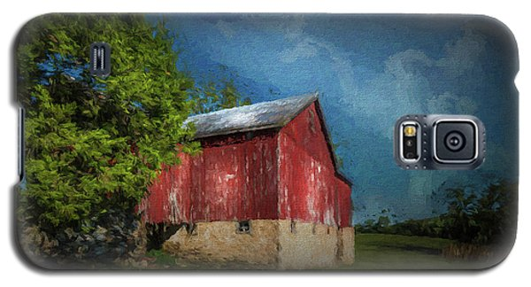 Galaxy S5 Case featuring the photograph The Red Barn by Marvin Spates