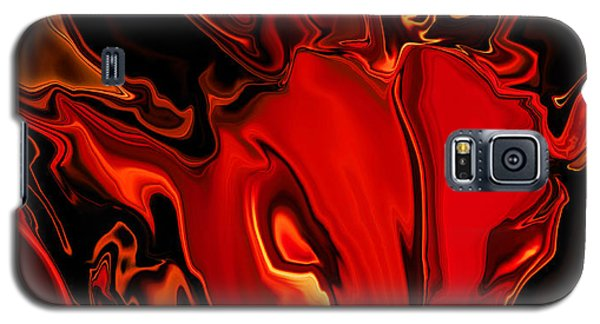 Galaxy S5 Case featuring the digital art The Red Bull by Rabi Khan