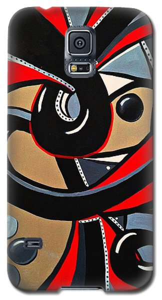 Red And Black Abstract Art Painting Galaxy S5 Case