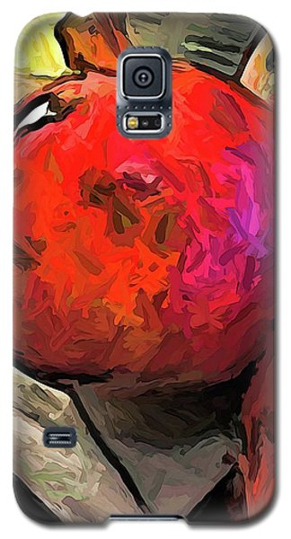 The Red Pomegranates On The Marble Chopping Board Galaxy S5 Case