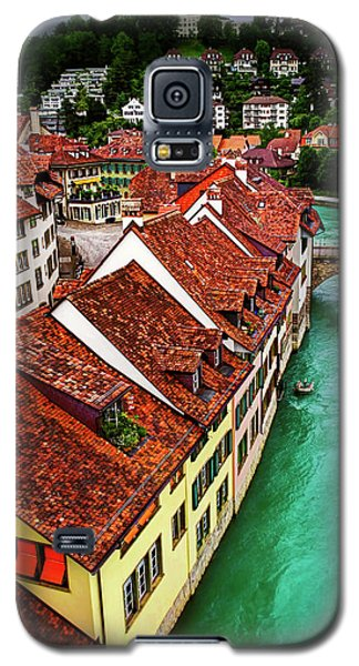 Galaxy S5 Case featuring the photograph The Red Rooftops Of Bern Switzerland  by Carol Japp