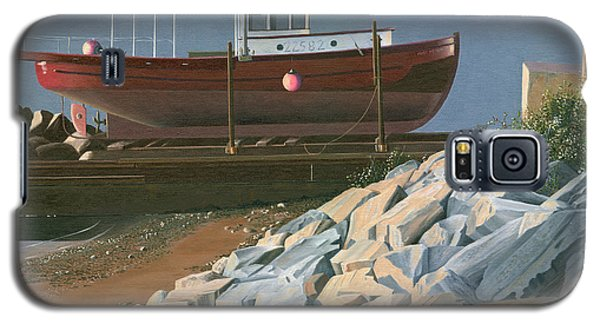 Galaxy S5 Case featuring the painting The Red Troller Revisited by Gary Giacomelli