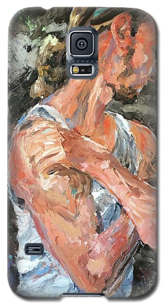 Galaxy S5 Case featuring the painting The Reflective Pause by Diane Daigle