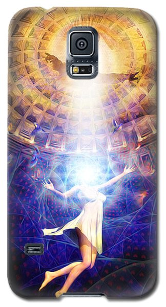 Galaxy S5 Case featuring the painting The Release Of Religious Dogma by Robby Donaghey
