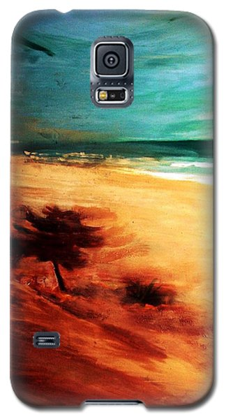 Galaxy S5 Case featuring the painting The Remaining Pine by Winsome Gunning