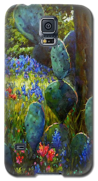 Galaxy S5 Case featuring the painting The Road Less Travelled by Chris Brandley