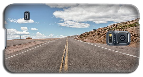 Galaxy S5 Case featuring the photograph The Road Up Pikes Peak At Around 12,000 Feet by Peter Ciro