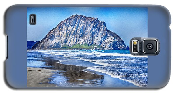 The Rock At Morro Bay Large Canvas Art, Canvas Print, Large Art, Large Wall Decor, Home Decor, Photo Galaxy S5 Case by David Millenheft