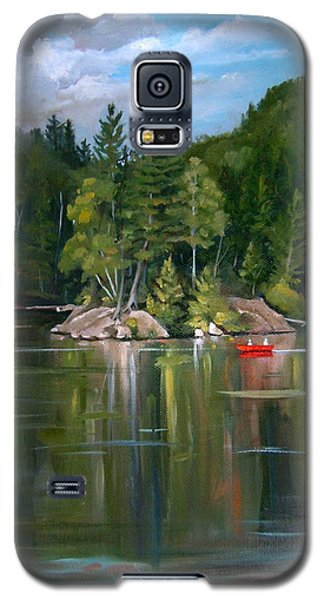 The Rock On Mirror In Woodstock New Hampshire Galaxy S5 Case