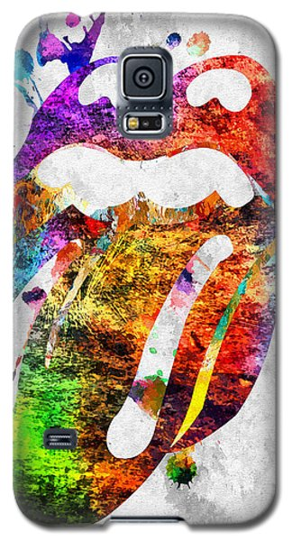 The Rolling Stones Logo Grunge Galaxy S5 Case by Daniel Janda