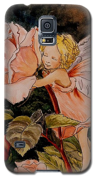 The Rose Fairy After Cicely Mary Barker Galaxy S5 Case by Betty-Anne McDonald
