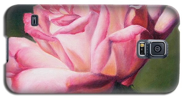 Galaxy S5 Case featuring the painting The Rose by Lori Brackett