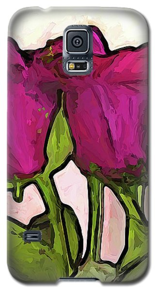 The Roses With The Green Stems And Leaves Galaxy S5 Case