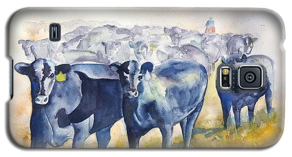The Round Up Cattle Drive  Galaxy S5 Case by Sharon Mick