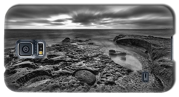 Galaxy S5 Case featuring the photograph The Rugged California Coast - Black And White by Photography  By Sai