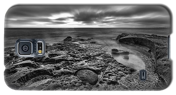 The Rugged California Coast - Black And White Galaxy S5 Case