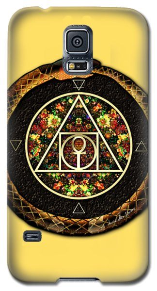 Galaxy S5 Case featuring the digital art The Sacred Alchemy Of Life by Iowan Stone-Flowers
