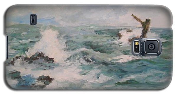Galaxy S5 Case featuring the painting The Sea by Rushan Ruzaick