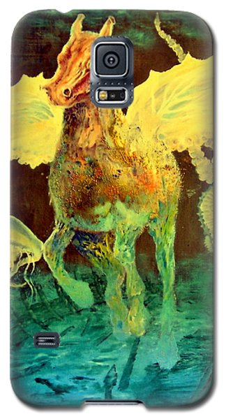 Galaxy S5 Case featuring the painting The Seahorse by Henryk Gorecki