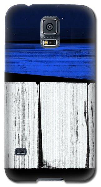The Seawalls No.4 Full Moon Rising Galaxy S5 Case