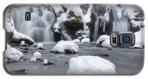 The Secret Waterfall In Winter 1 Galaxy S5 Case