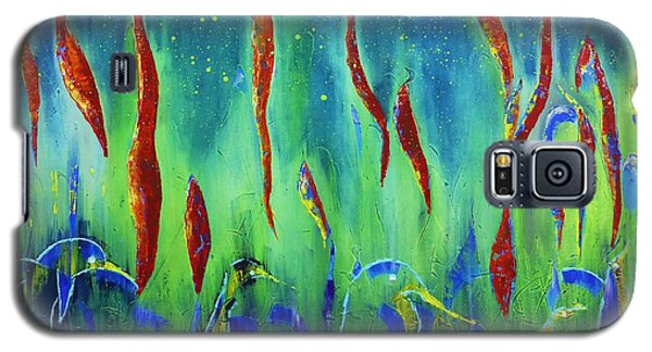 Galaxy S5 Case featuring the painting The Secret World Of Water And Fire by AmaS Art