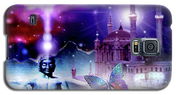 Galaxy S5 Case featuring the mixed media The Serenity Of Wisdom... by Hartmut Jager