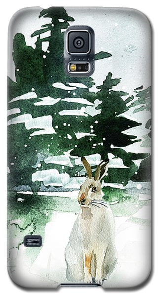 Galaxy S5 Case featuring the painting The Snow Bunny by Colleen Taylor