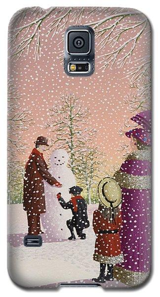 Ice Galaxy S5 Case - The Snowman by Peter Szumowski