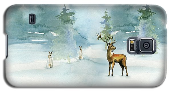 Galaxy S5 Case featuring the digital art The Soft Arrival Of Winter by Colleen Taylor