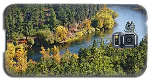 Galaxy S5 Case featuring the photograph The Spokane River  by Ben Upham III