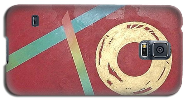 Galaxy S5 Case featuring the painting The Square Wheels Of Progress by Bernard Goodman