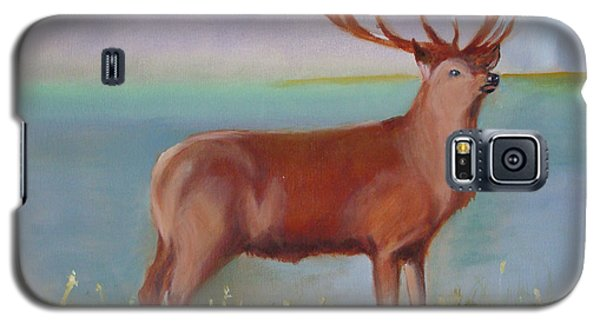Galaxy S5 Case featuring the painting The Stag by Rod Jellison