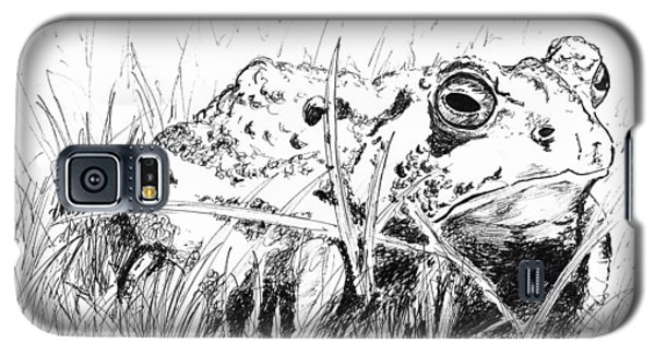 Galaxy S5 Case featuring the drawing The Stalwart Old Toad by Andrew Gillette