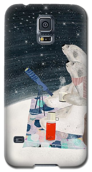 Galaxy S5 Case featuring the painting The Stargazers by Bri B