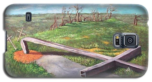 Millsfield Tennessee Steel Cross Galaxy S5 Case by Randy Burns