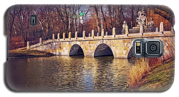 Galaxy S5 Case featuring the photograph The Stone Bridge In Lazienki Park Warsaw  by Carol Japp