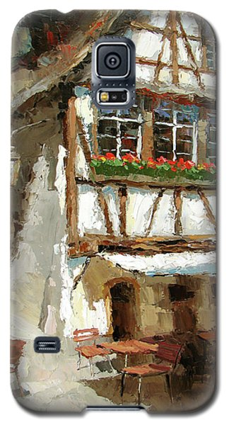 Galaxy S5 Case featuring the painting The Streets Of Strasbourg by Dmitry Spiros