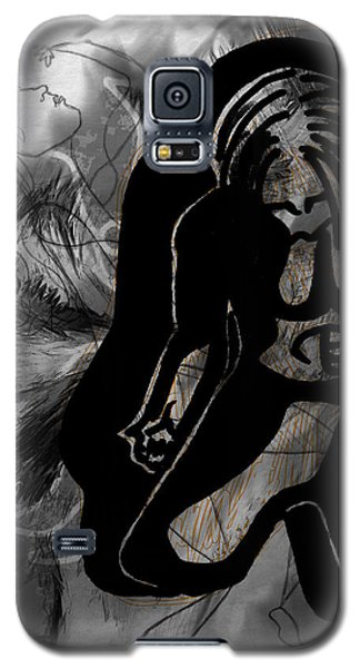 Galaxy S5 Case featuring the drawing The Struggle Within by Sheila Mcdonald