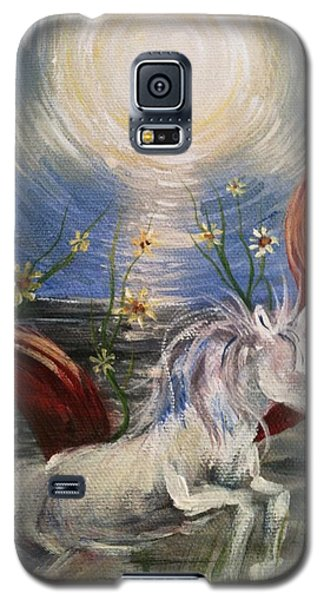 Galaxy S5 Case featuring the painting the Sun by Karen  Ferrand Carroll