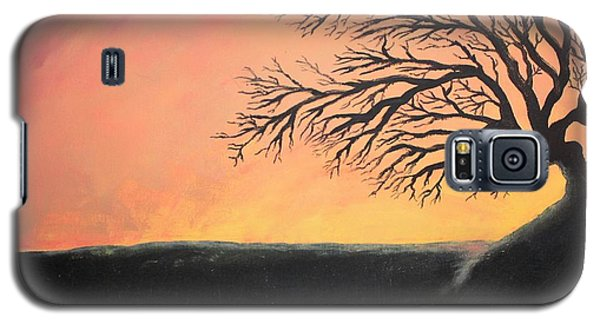 Galaxy S5 Case featuring the painting The Sun Was Set by Antonio Romero