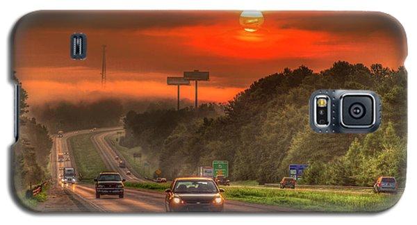 The Sunrise Commute Georgia Interstate 20 Art Galaxy S5 Case